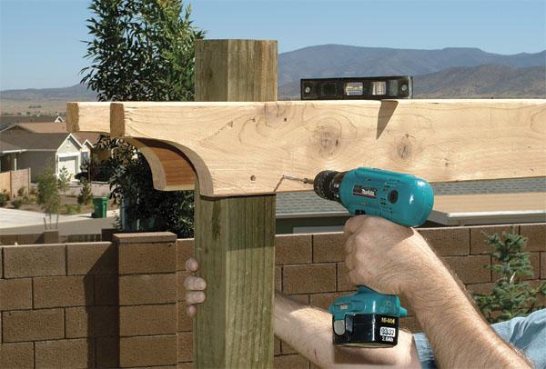 C mo construir una p rgola p rgolas de madera for Como construir una pergola