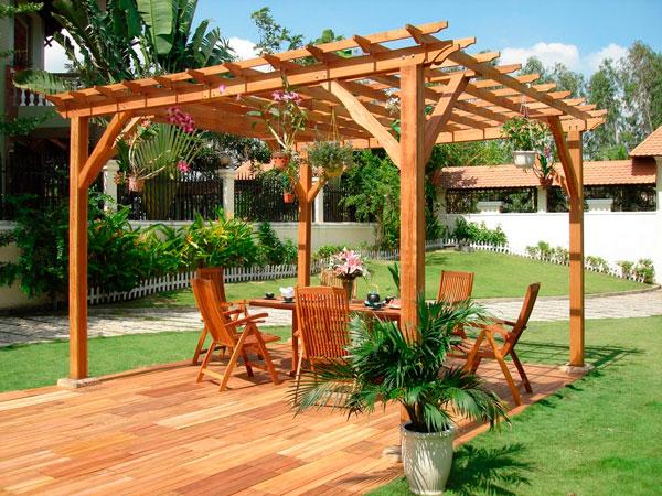 Pergolas de madera para jardin